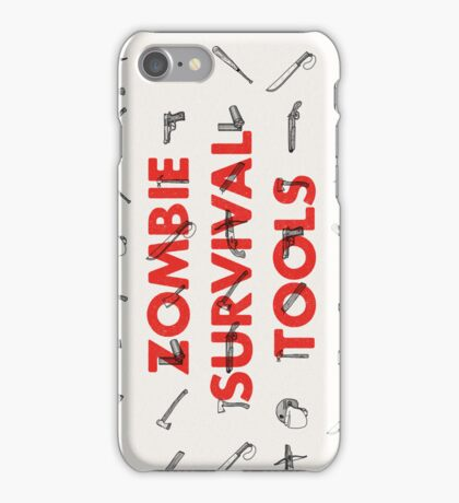 Zombie Survival Tools iPhone Case/Skin