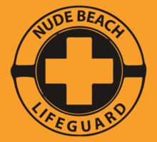 Nude Beach Lifeguard (black ink) by Max Effort