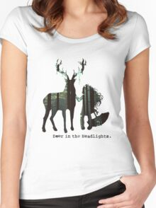 In the woods. Women's Fitted Scoop T-Shirt