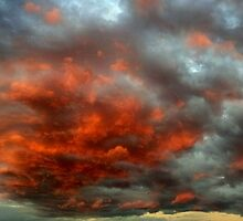 Sky On Fire by Destrania