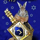 Hanukkah Bunny Rabbit by jkartlife