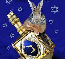 Hanukkah Bunny Rabbit by jkartlife
