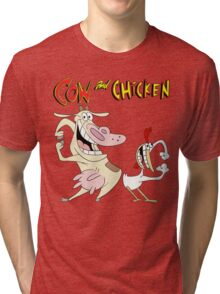 Cow and Chicken Tri-blend T-Shirt