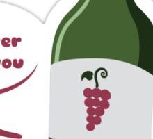 Red Wine Buddy Sticker