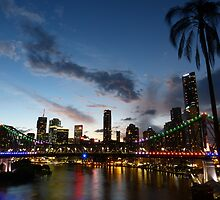 Dusk in Brisbane by PhotosByG