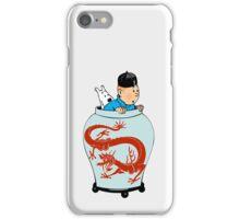 Tintin Dragon iPhone Case/Skin