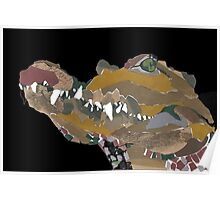 collage crocodile Poster