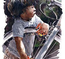 Playing behind the wheel by Erwin Mallari