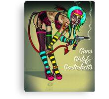 Guns Girls & Garterbelts Canvas Print
