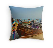 Thai transportation Throw Pillow