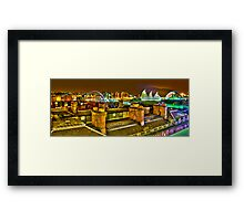 Rooftops Newcastle Framed Print