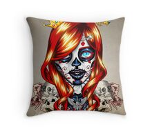 Queen of Suits Throw Pillow