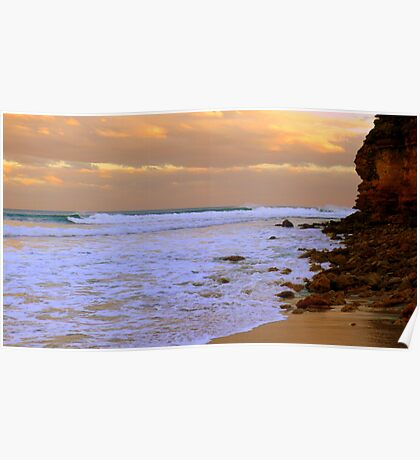 Surfing Sunset  Poster