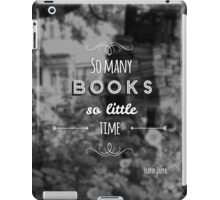 So many books, so little time. iPad Case/Skin