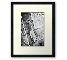 Violin Rural Framed Print