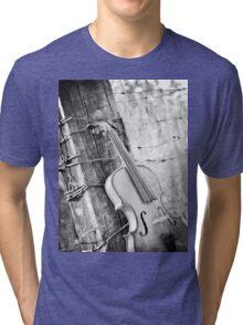 Violin Rural Tri-blend T-Shirt