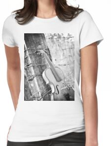 Violin Rural Womens Fitted T-Shirt