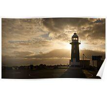 Lighthouse Sunset at Fremantle, Perth Poster