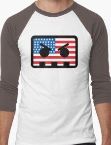 Barely Alive - US Flag Logo Men's Baseball ¾ T-Shirt