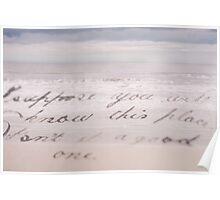 Elegant beach landscape handwriting smooth photographic art Poster