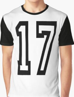 17, TEAM SPORTS, NUMBER 17, SEVENTEEN, SEVENTEENTH, ONE, SEVEN, Competition,  Graphic T-Shirt