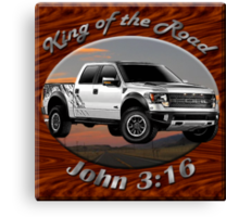 Ford F-150 Truck King Of The Road Canvas Print
