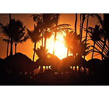 sunset in Dominican Photographic Print