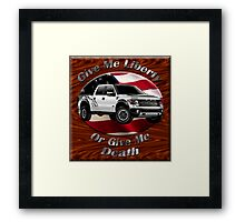 Ford F-150 Truck Give Me Liberty Framed Print