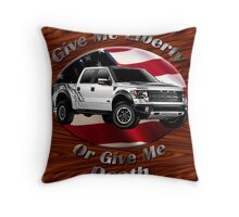 Ford F-150 Truck Give Me Liberty Throw Pillow