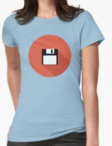 3 and a Half inch disc Womens Fitted T-Shirt