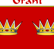 Grant Coat of Arms/Family Crest Sticker