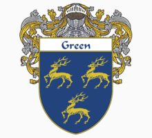 Green Coat of Arms/Family Crest by William Martin