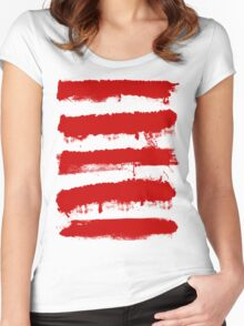 Rebel Stripes Women's Fitted Scoop T-Shirt