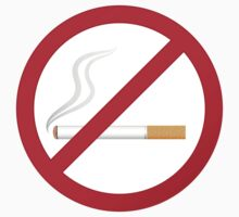 No smoking symbol stickers by Mhea