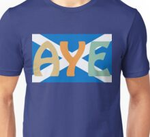 Scottish Independence Aye Saltire Tee Unisex T-Shirt