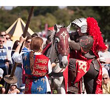 Preparing for jousting Photographic Print