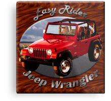 Jeep Wrangler Easy Rider Metal Print