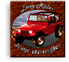 Jeep Wrangler Easy Rider Canvas Print