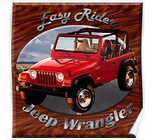 Jeep Wrangler Easy Rider Poster