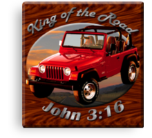 Jeep Wrangler King Of The Road Canvas Print