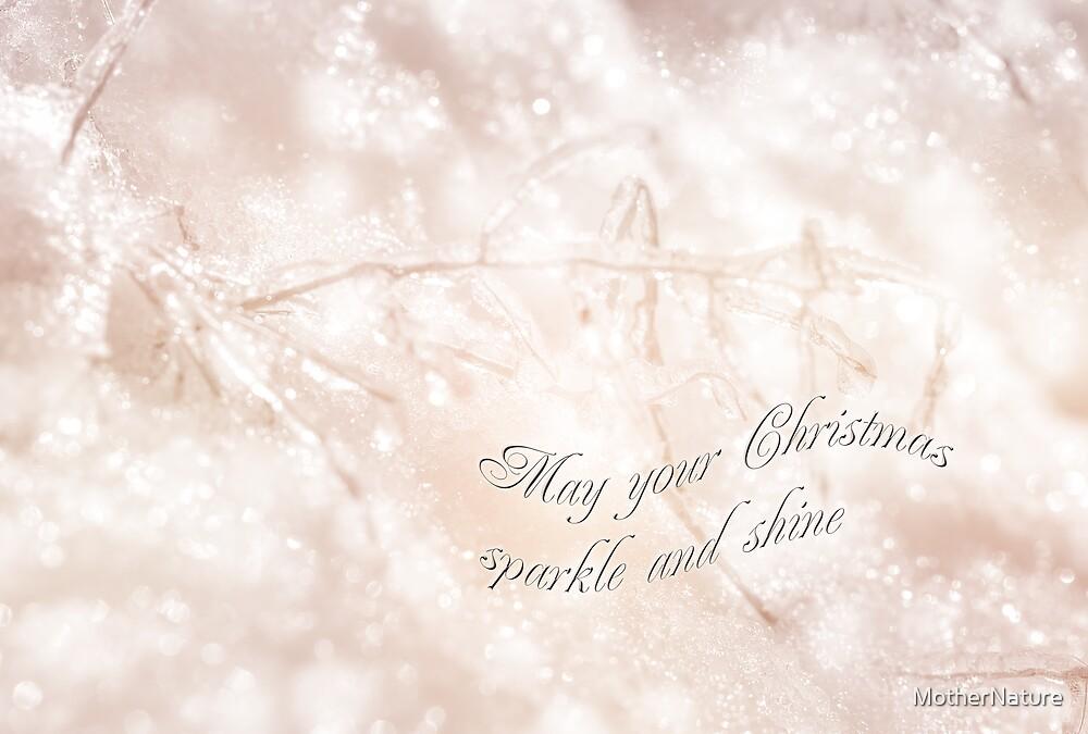 Merry Christmas Card - Crystal Wonderland by MotherNature