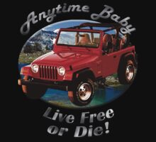 Jeep Wrangler Anytime Baby One Piece - Short Sleeve