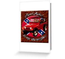 Jeep Wrangler Road Rebel Greeting Card
