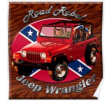 Jeep Wrangler Road Rebel Poster