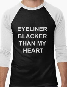 EYELINER BLACKER THAN MY HEART Men's Baseball ¾ T-Shirt