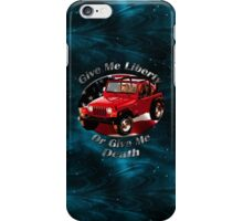 Jeep Wrangler Give Me Liberty iPhone Case/Skin