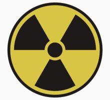 Nuclear radiation symbol, black border by Mhea