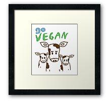 GO VEGAN - CALVES Framed Print
