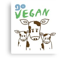 GO VEGAN - CALVES Canvas Print