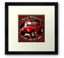Jeep Wrangler Road Warrior Framed Print